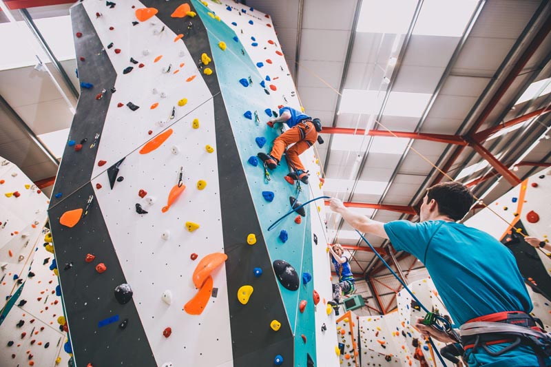 Experienced Climbers at Big Rock in Milton Keynes